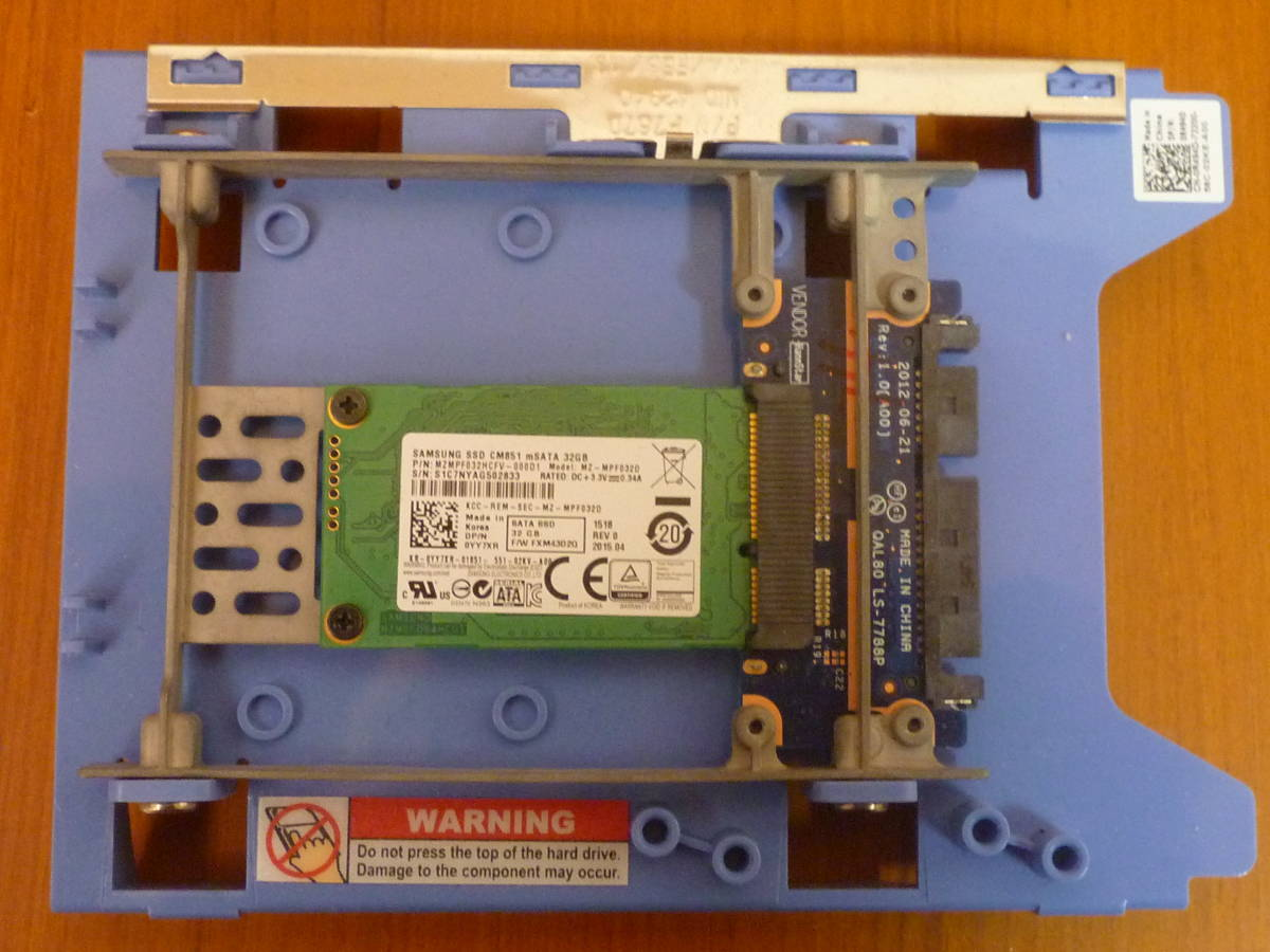 Samsung SSD mSATA 32GB◆mSATAからSATAケーブルで接続可能に変換機も付いてます◆