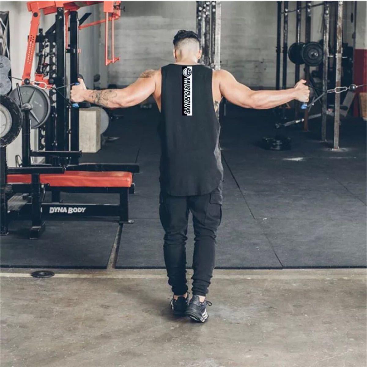 トレーニングウェア ノースリーブ メンズ フィジーク タンクトップ Lサイズ