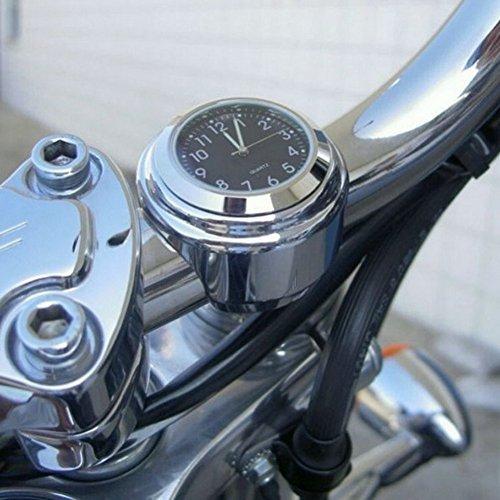 Demiawaking オートバイ アナログ時計 夜光 ハンドルバー ダイヤル時計 バイク 自転車 オートバイ_画像2