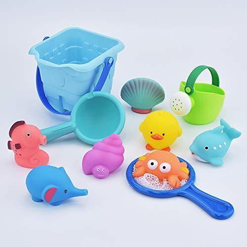 お風呂 おもちゃ Bacolos おふろ 水遊びおもちゃ シャワー プールトイ 11点セット 噴水 音出す動物 漁網 ひしゃく ジ_画像5