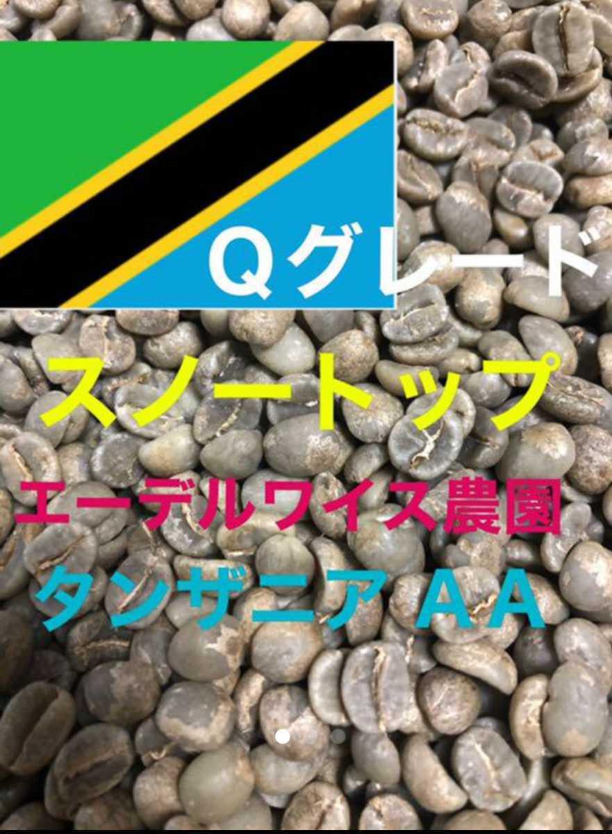 スノートップ(タンザニア キリマンジャロ)200gコーヒー生豆!焙煎しておりません!エーデルワイス農園!Qグレード!_画像1
