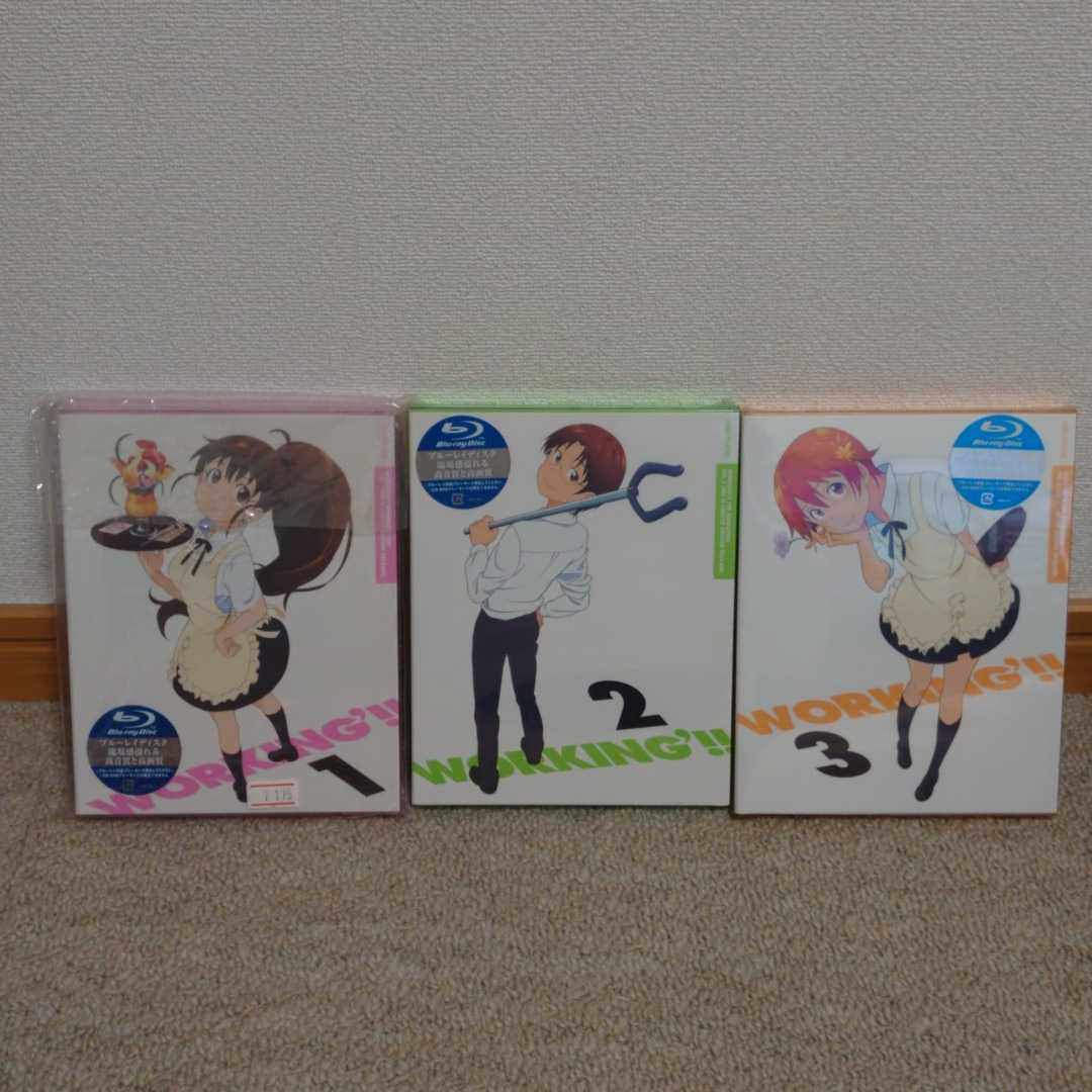 【新品未開封】Blu-ray WORKING!! 完全生産限定版 1~3巻