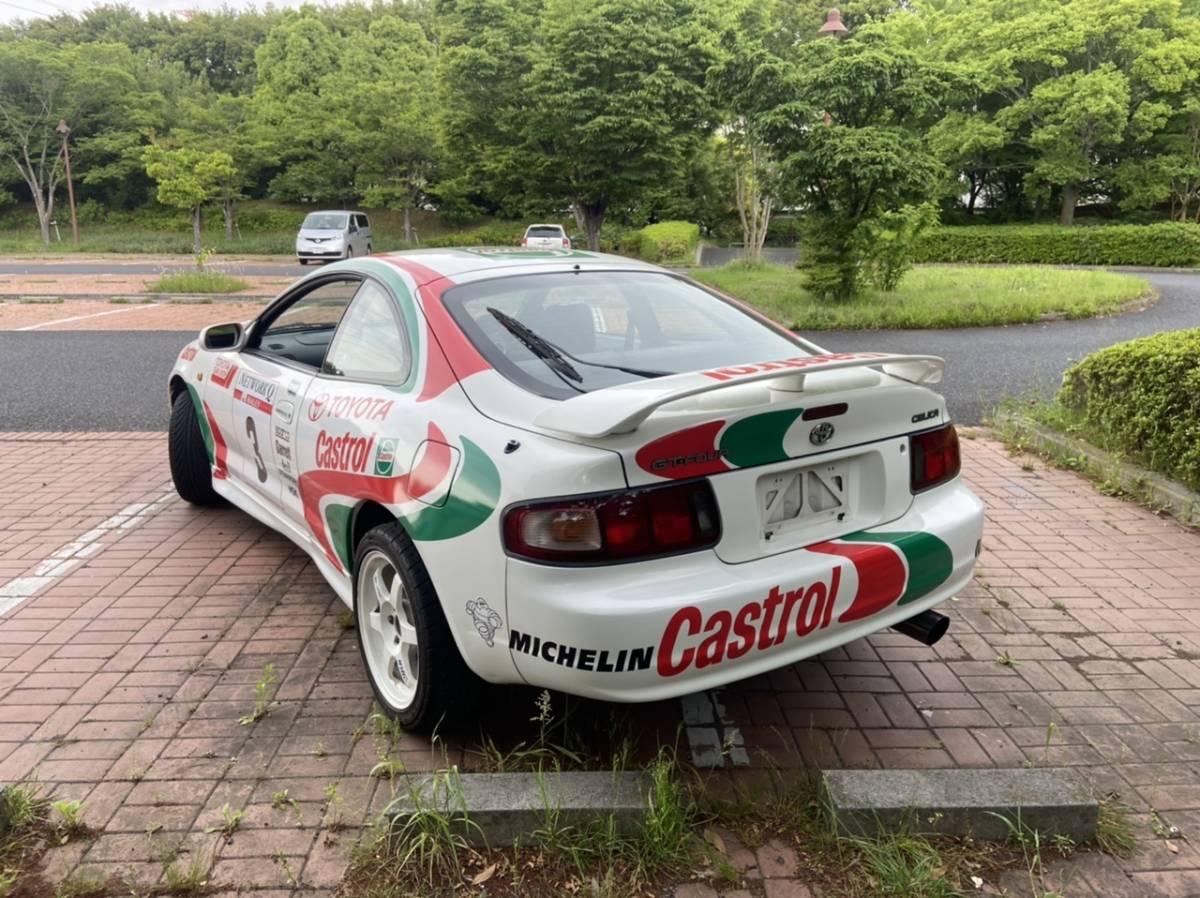 千葉県発 セリカss1 st202 5速 実走行86000キロ WRCカストロールレプリカ TRDマフラー TE37付 近県実費で配送可 _画像2