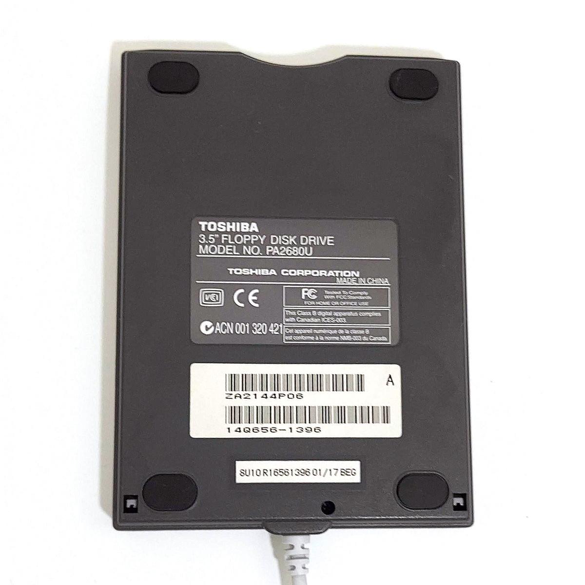 東芝 TOSHIBA USB接続 3.5インチ FDDユニット フロッピーディスクドライブ PA2680U