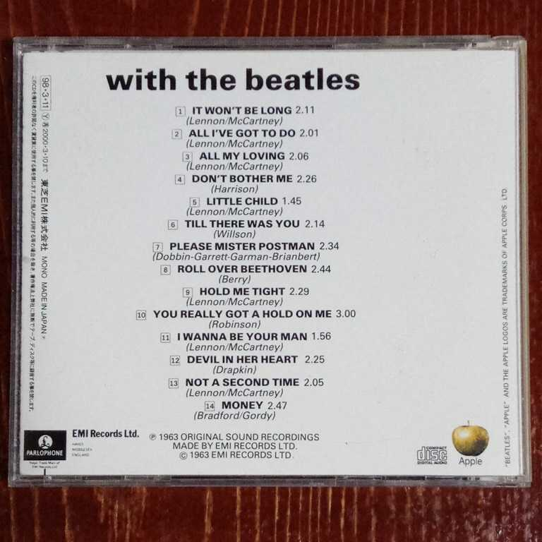 THE BEATLES WITH THE BEATLES ウィズ・ザ・ビートルズ ザ・ビートルズ CD 中古 _画像2