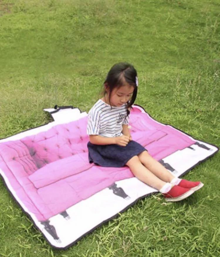 ピクニックマット レジャーシート ソファ柄 ピンク