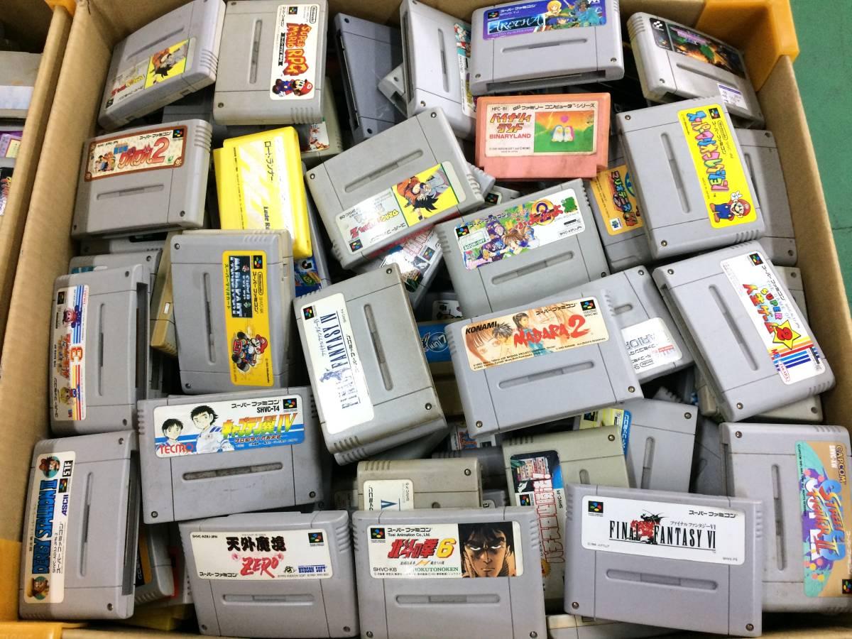 【z57-88/160/0】FC SFC 64 ソフト セット カセット 約350個以上 ファミコン スーファミ ジャンク 大量 ロードランナー 人生ゲームなど_画像1