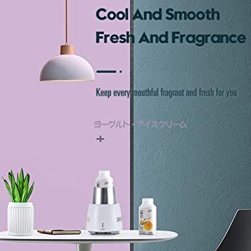 ホワイト HANSHUMY カップクーラー ミニ冷蔵庫 保冷缶ホルダー 卓上用用冷蔵カップ ドリンククーラー 小型 飲料冷却器 _画像4
