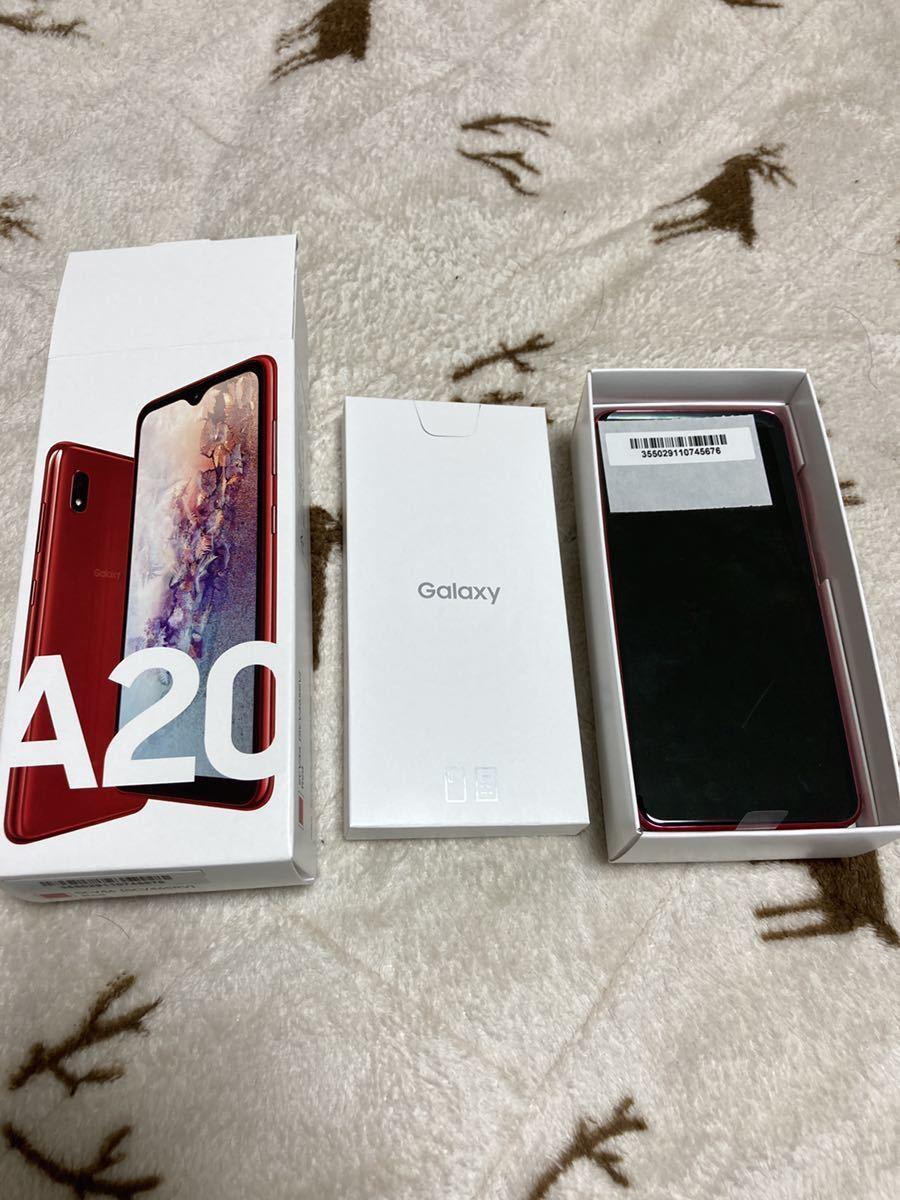 【新品未使用】galaxy A20 レッド SAMSUNG J:COM版 SIMフリー SCV46
