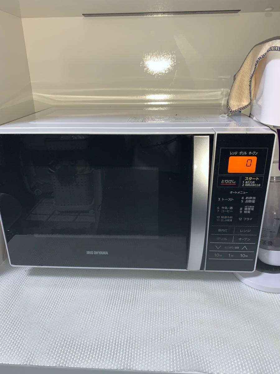 アイリスオーヤマ オーブンレンジ 16L ターンテーブル MO-T1601 USED 2017年製 訳あり
