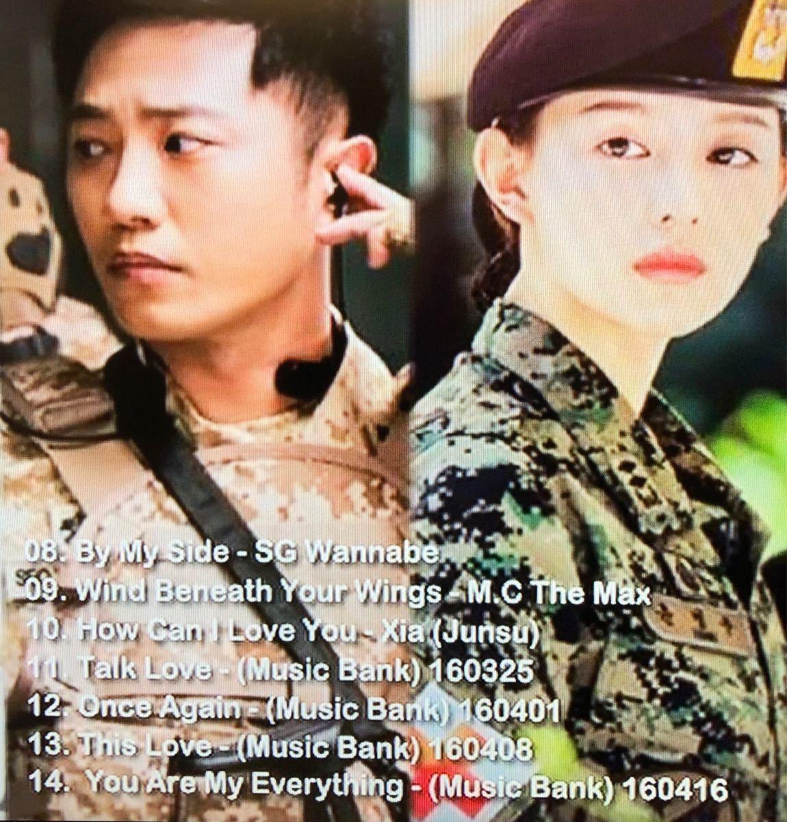太陽の末裔  OST  DVD  レーベル有り  ソン・ヘギョ  ソン・ジュンギ