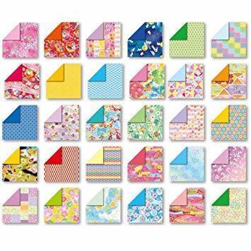 両面 15cm角 トーヨー 折り紙 和紙風 千代紙づくし 両面 15cm角 30柄 120枚入 018060_画像2
