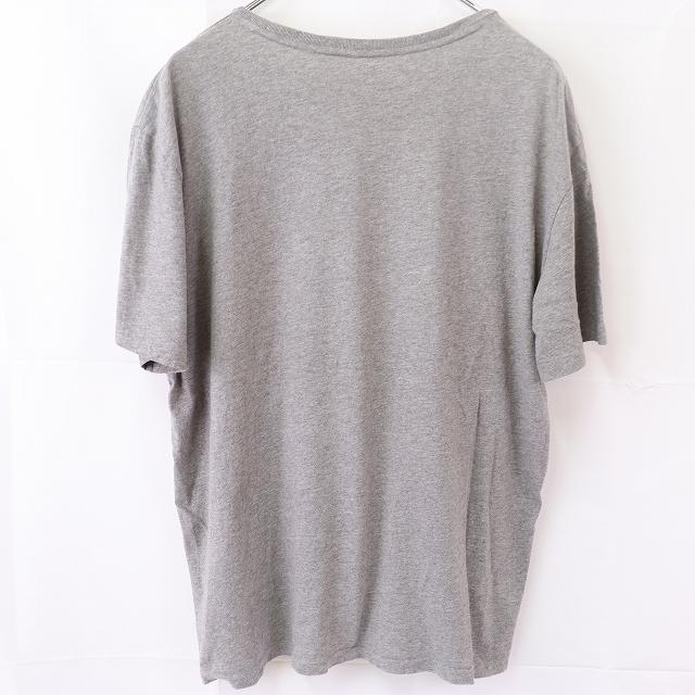 ラルフローレン Tシャツ XL グレー 緑 ワンポイント POLO RALPH LAUREN 半袖 クルーネック メンズ 古着 中古 st97_画像2