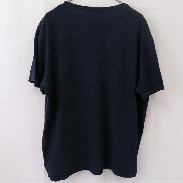 ラルフローレン Tシャツ XL 紺 白 ワンポイント POLO RALPH LAUREN 大きめ 半袖 クルーネック メンズ 古着 st108_画像2