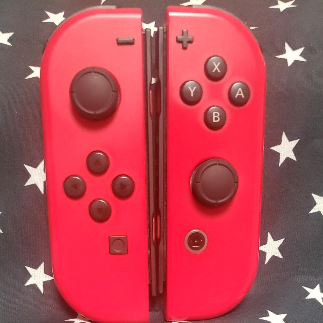 Nintendo Switch ジョイコン Joy-Con (L)(R) 左右セット マリオレッド ストラップつき【送料無料】
