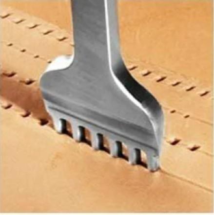 レザークラフト 道具 菱目打ち 3mm 4本 セット 工具  皮革 革 細工
