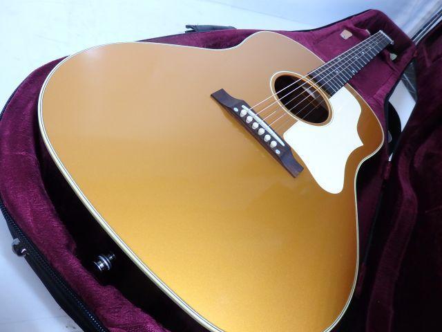 【良品】BRUNO BJ-45 ギブソン J-45タイプ 楽器店オーダー 楽器フェア限定カラー ゴールドトップ ラッカー塗装 PU付き ★ 606D0-3