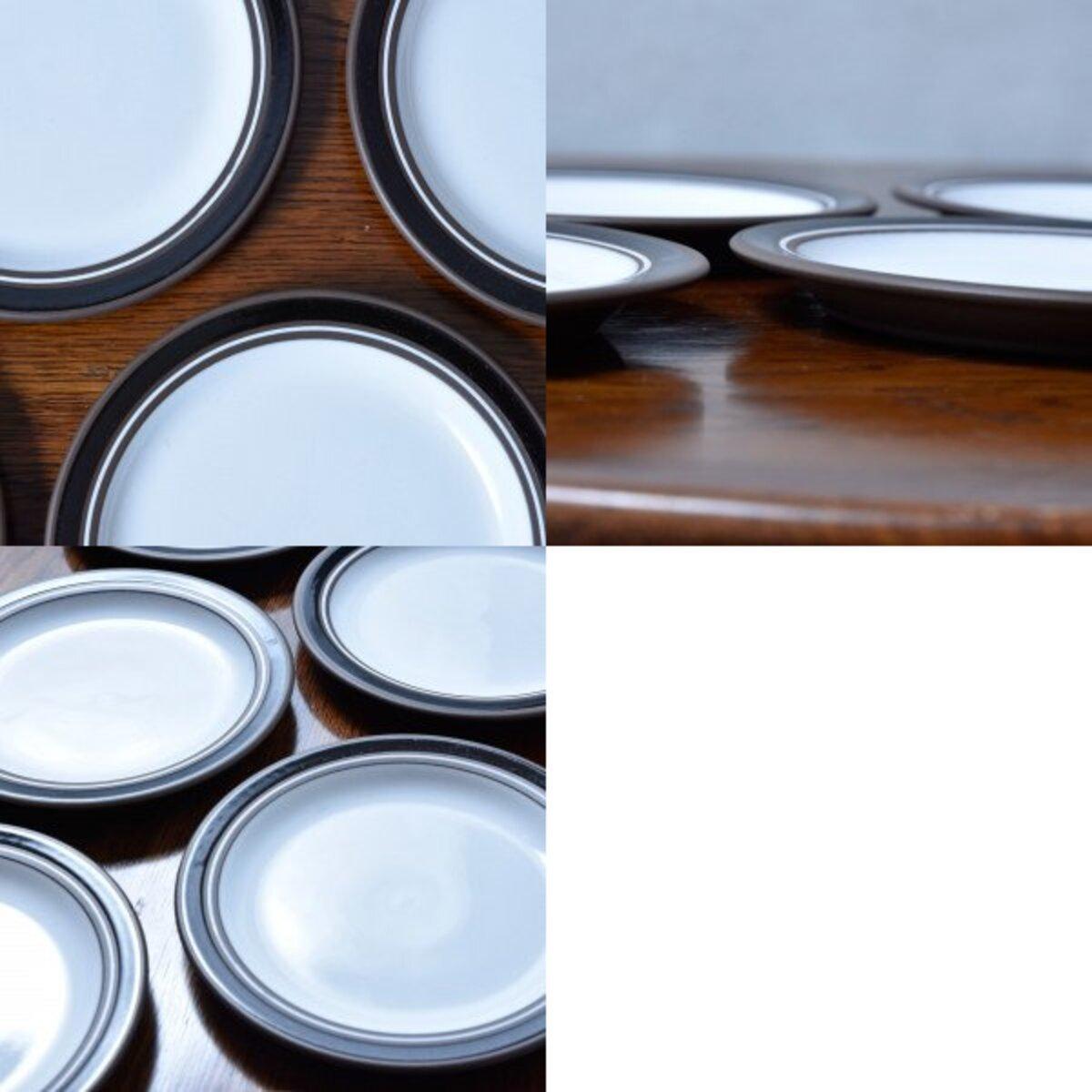 IZ45603I○6枚セット HORNSEA コントラスト ケーキプレート 16cm 英国 食器 ヴィンテージ ホーンジー Contrast ケーキ皿 デザートプレート_画像8