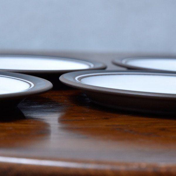 IZ45603I○6枚セット HORNSEA コントラスト ケーキプレート 16cm 英国 食器 ヴィンテージ ホーンジー Contrast ケーキ皿 デザートプレート_画像4