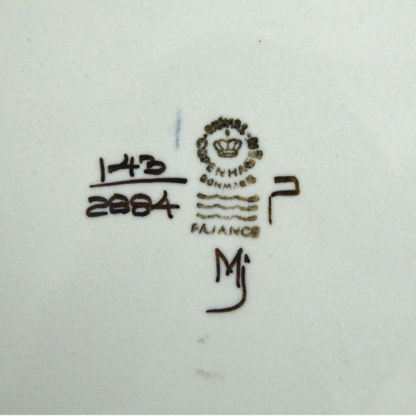 IZ49233I○ロイヤルコペンハーゲン Tenera スクエア プレート 22cm 北欧 デンマーク ヴィンテージ ROYAL COPENHAGEN テネラ 陶器 食器 角皿_画像3