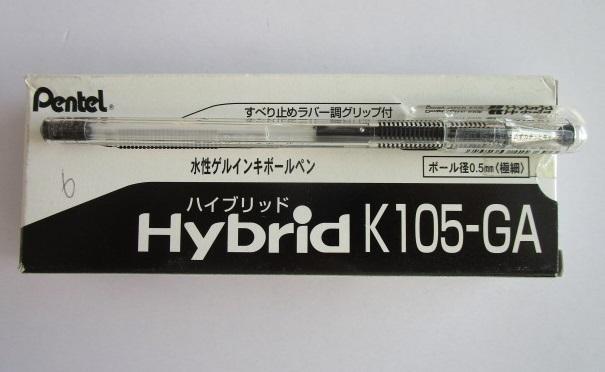 ☆ K105-GA(ハイブリッド)×2本×倍の4本セット ぺんてる ボールペン【未使用/筆記チェック済み】端数ポイント交換_画像1