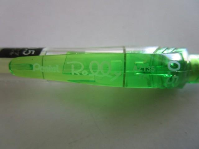 ★ AZ135-K(ライトグリーン)×2本×倍の4本セット ぺんてる シャープペンシル【未使用/ノックチェック済み】端数ポイント交換_画像6