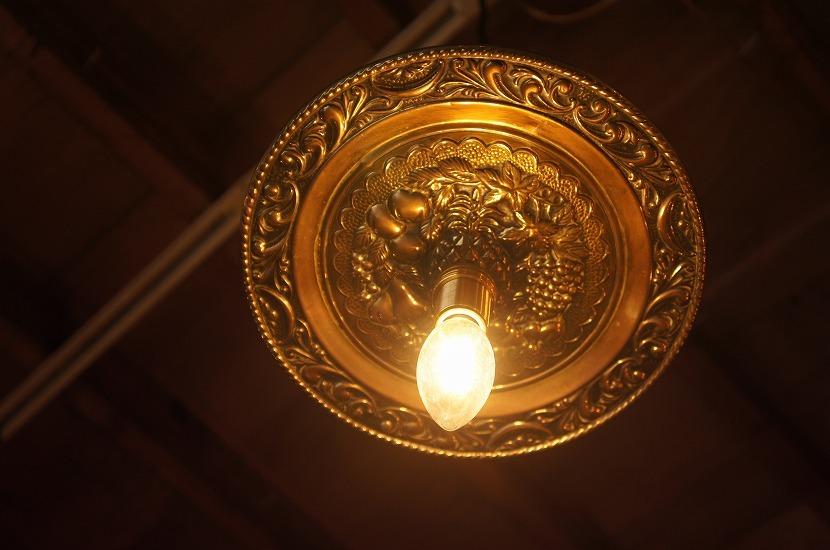 イギリスアンティーク 真鍮製 見上げるランプ Fruits/アート/芸術/吊り下げランプ/照明/アンティークランプ/ブラス/フルーツ/果物_画像1