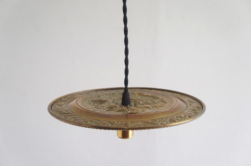 イギリスアンティーク 真鍮製 見上げるランプ Fruits/アート/芸術/吊り下げランプ/照明/アンティークランプ/ブラス/フルーツ/果物_画像8