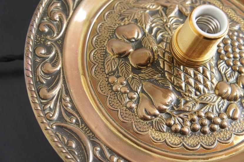 イギリスアンティーク 真鍮製 見上げるランプ Fruits/アート/芸術/吊り下げランプ/照明/アンティークランプ/ブラス/フルーツ/果物_画像5