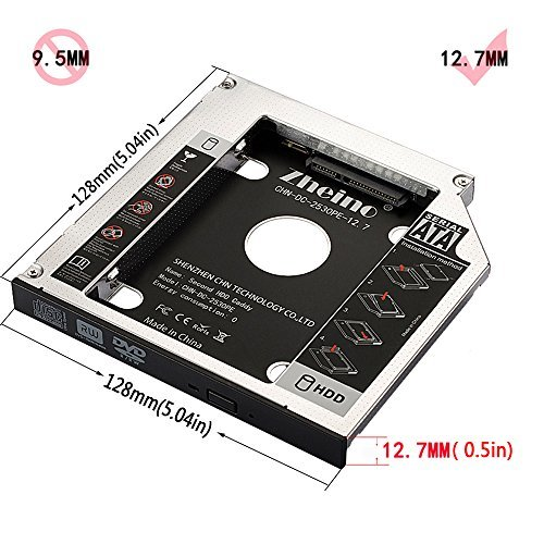 CHN-DC-2530PE-12.7 Zheino 2nd 12.7mmノートPCドライブマウンタ セカンド 光学ドライブベイ用_画像7