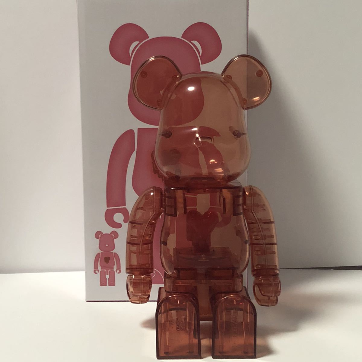 Bearbrick x Emotionally Unavailable Red Heart 400% Red レッド 赤 紅 ベアブリック BE@RBRICK _画像3