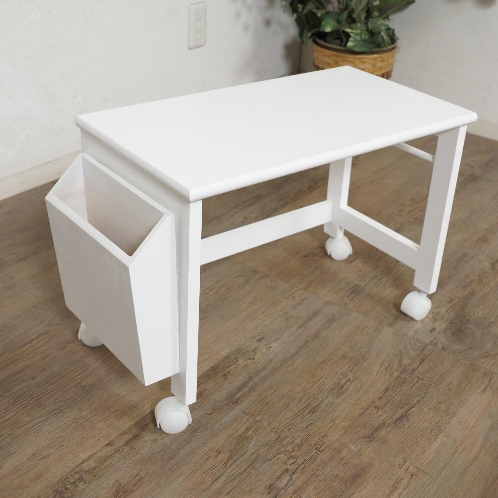 送料無料【新品】コンパクトに収納! 2段 木製 パソコン テーブル アウトレット 家具_画像4