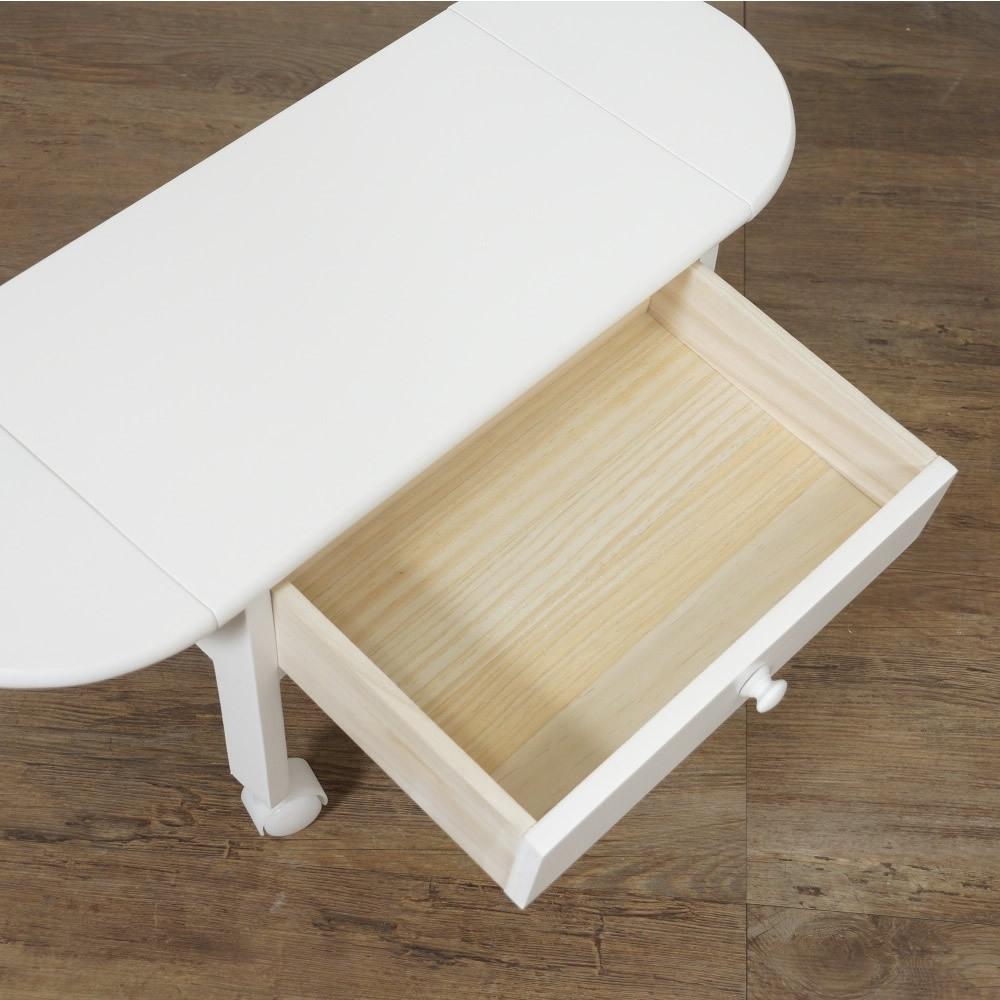 送料無料【新品】コンパクトに収納! 2段 木製 パソコン テーブル アウトレット 家具_画像7