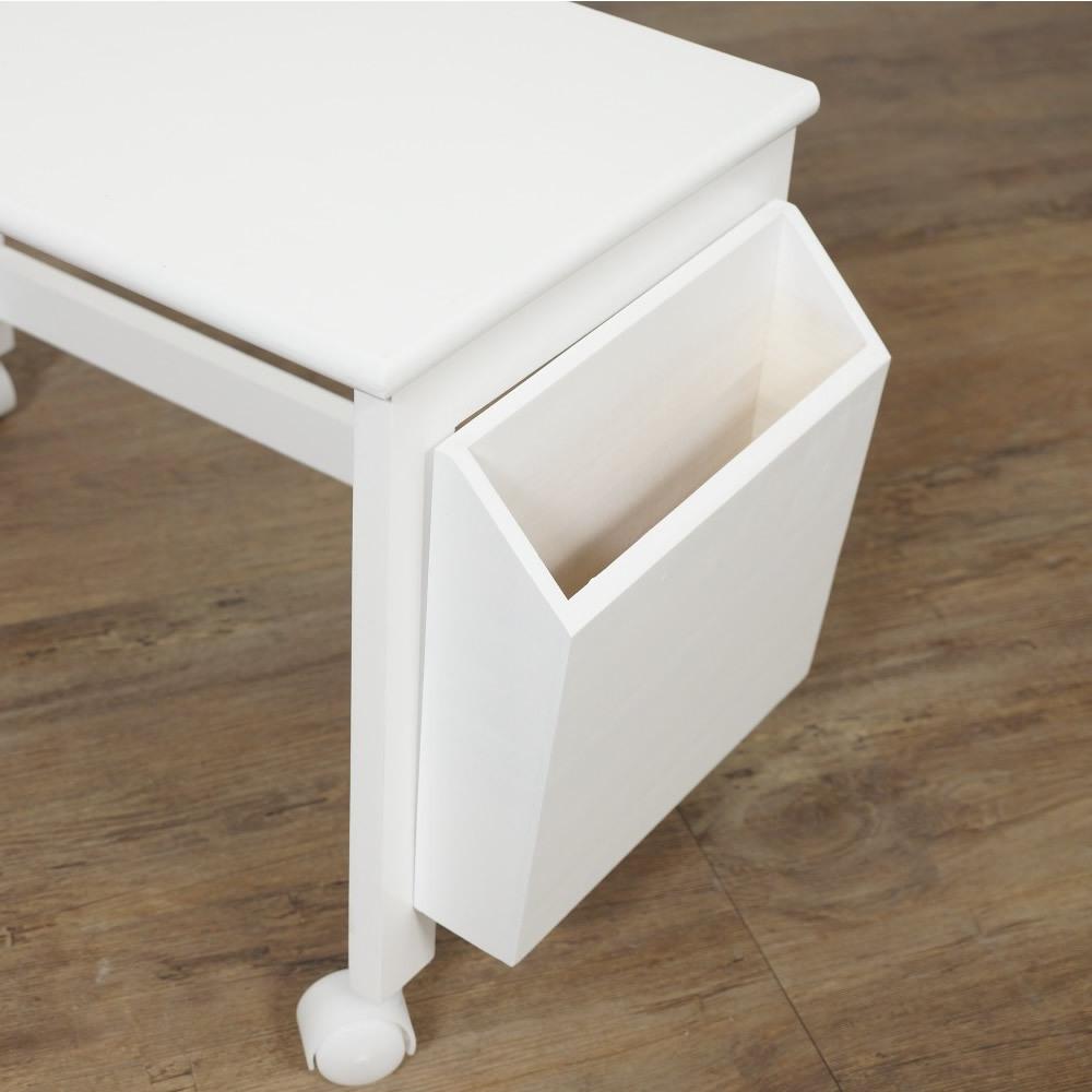 送料無料【新品】コンパクトに収納! 2段 木製 パソコン テーブル アウトレット 家具_画像6
