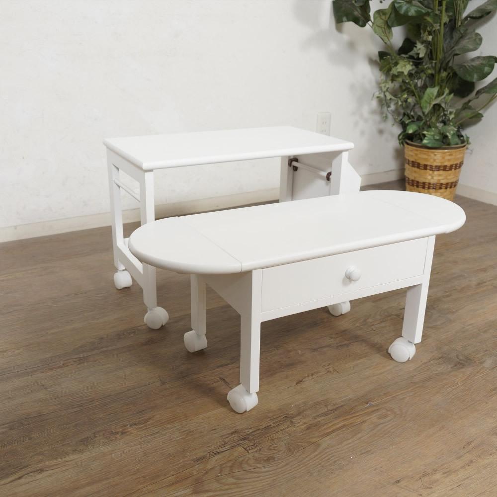 送料無料【新品】コンパクトに収納! 2段 木製 パソコン テーブル アウトレット 家具_画像3