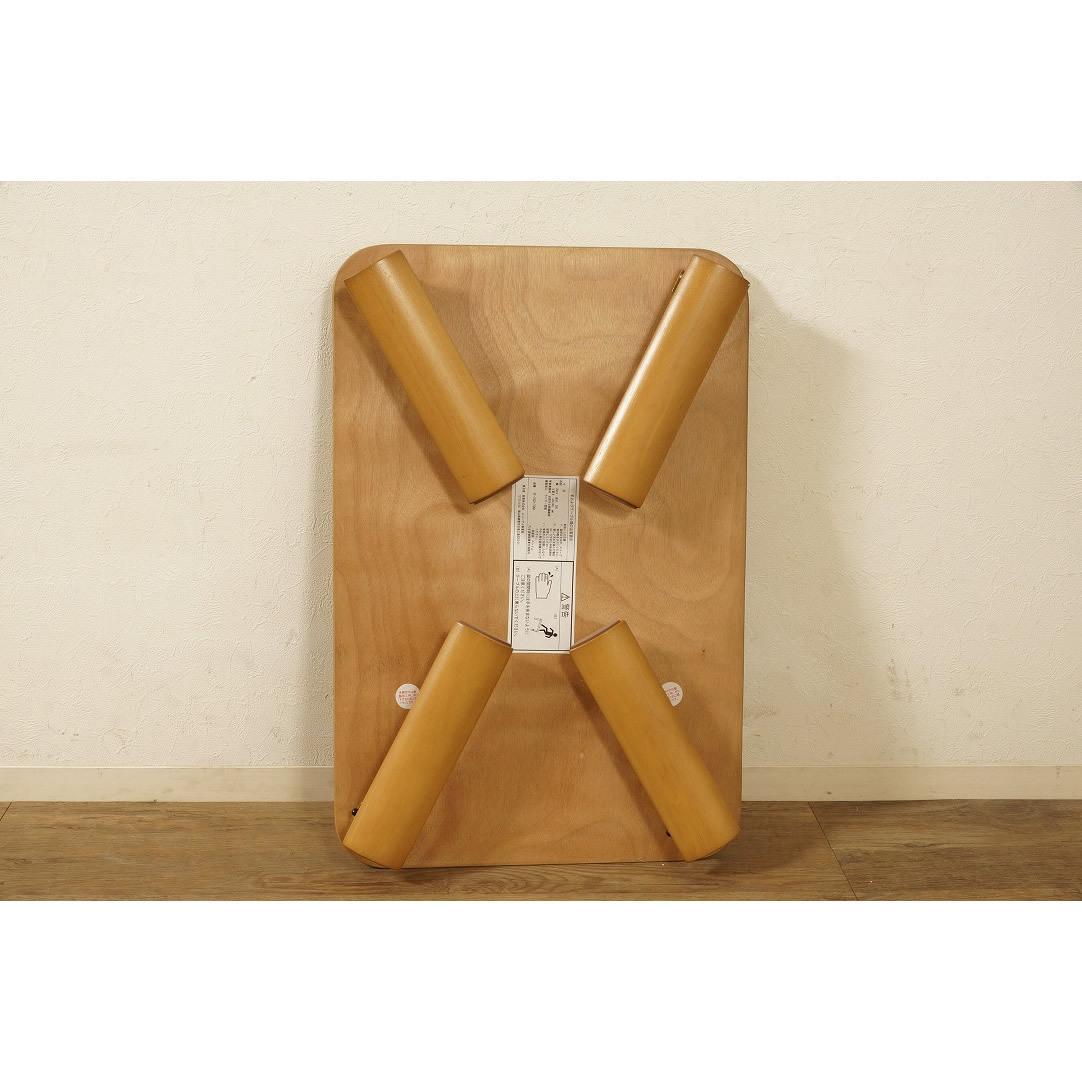 送料無料【新品】折りたたみ テーブル 座卓 ワイド 90cm 幅 FF2610_画像2
