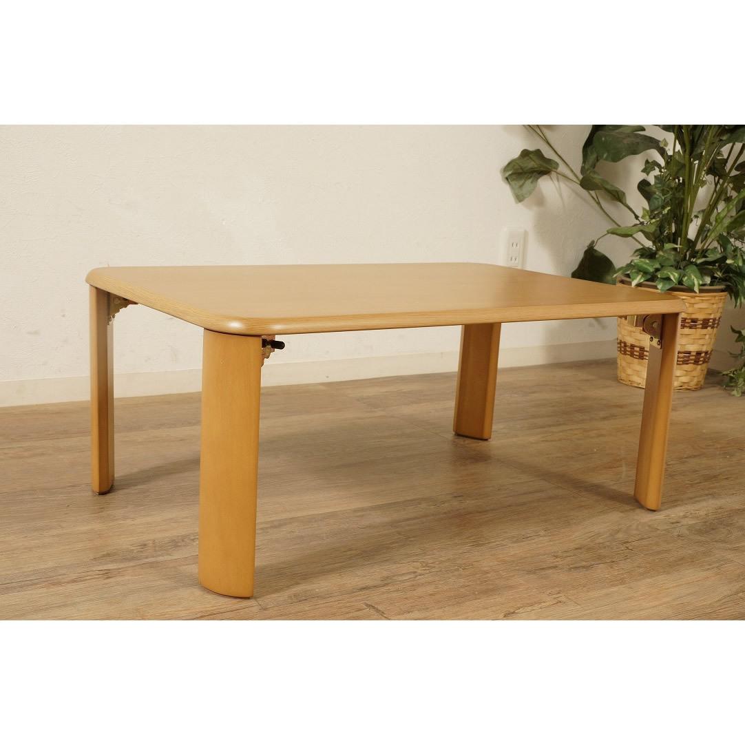 送料無料【新品】折りたたみ テーブル 座卓 ワイド 90cm 幅 FF2610_画像1