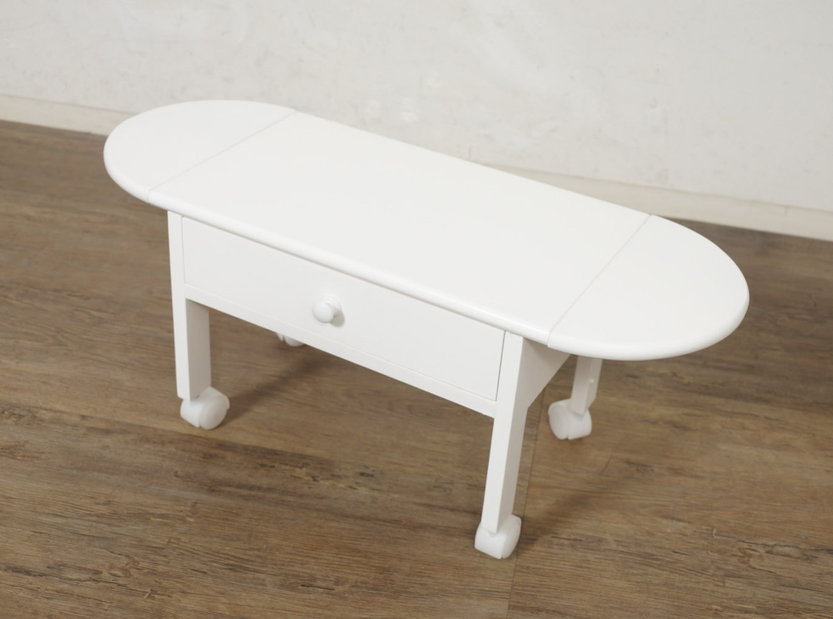 送料無料【新品】コンパクトに収納! 2段 木製 パソコン テーブル アウトレット 家具_画像8