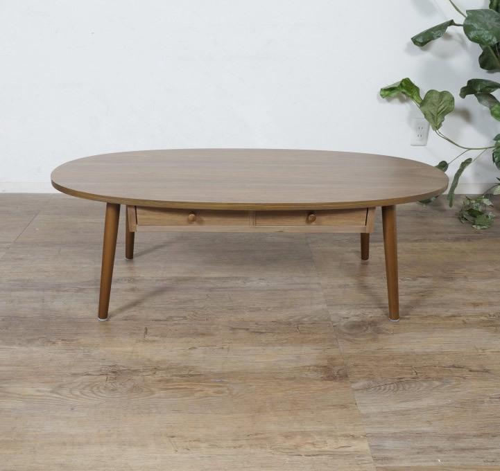 送料無料【新品】おしゃれ 木目が綺麗な 引き出し付き テーブル アウトレット 座卓 センターテーブル FF2567_画像7