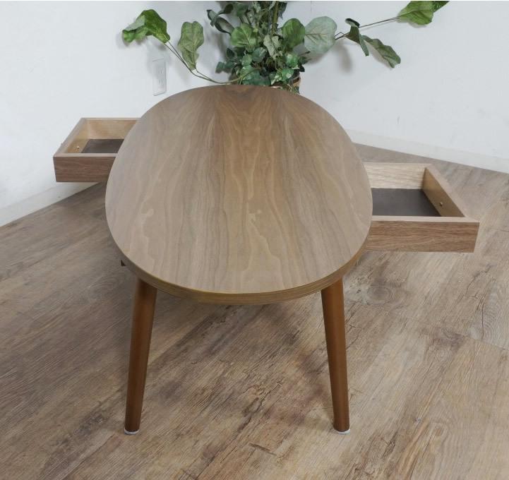 送料無料【新品】おしゃれ 木目が綺麗な 引き出し付き テーブル アウトレット 座卓 センターテーブル FF2567_画像6