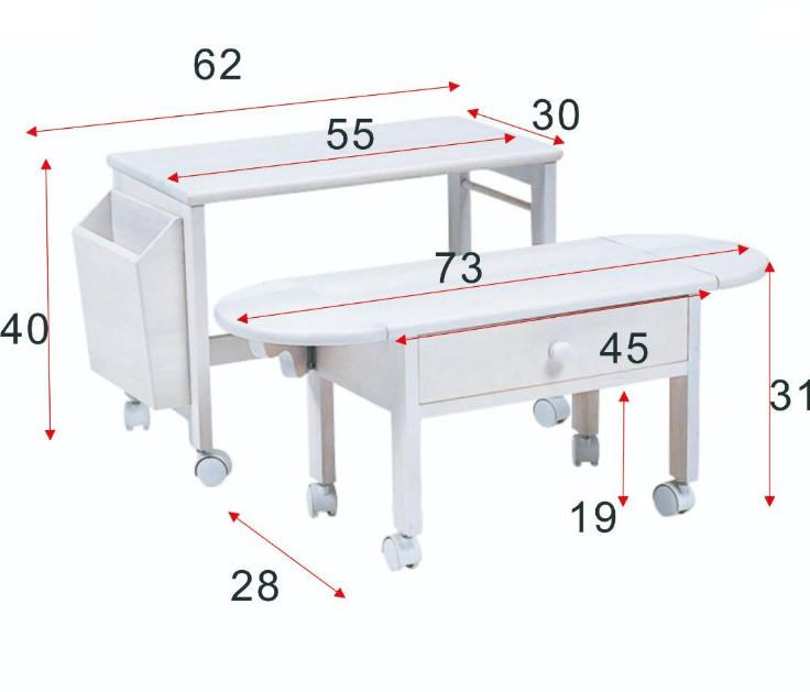 送料無料【新品】コンパクトに収納! 2段 木製 パソコン テーブル アウトレット 家具_画像9