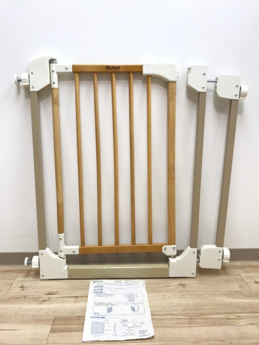 Richell 木のオートロックゲートS ① 安全柵 赤ちゃん ペット ベビーゲート フェンス リッチェル 木製 安全_画像1