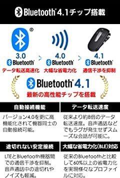 ブラック LUFT(ルフト) ハンズフリー Bluetooth 4.1 携帯電話 車載 ワイヤレススピーカー 高音質 日本語音声_画像4