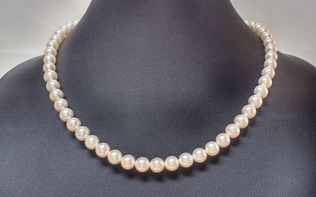 アコヤ真珠 7.0-7.5mm ネックレス 43cm_画像1