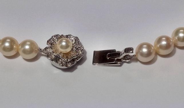 アコヤ真珠 7.0-7.5mm ネックレス 43cm_画像3
