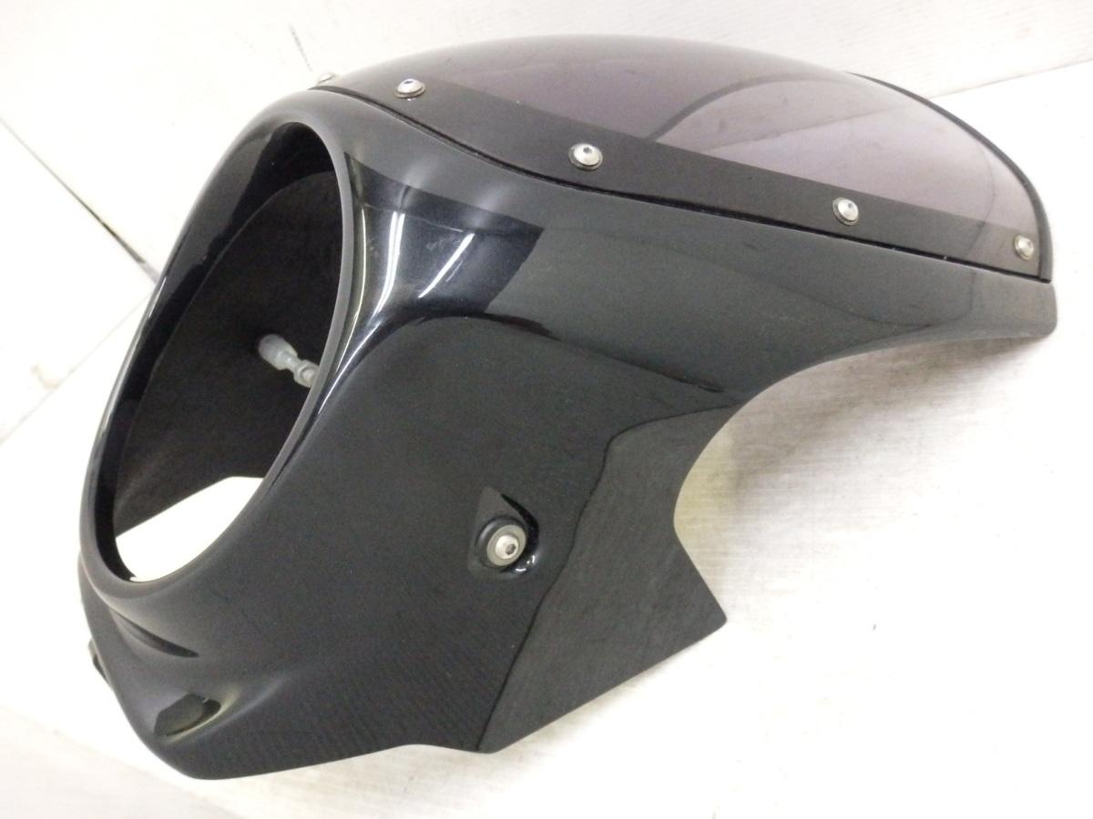X4 X4LD SC38 シックデザイン ロードコメット ビキニカウル フロント スクリーン ブラック 迅速出荷 即決落札で送料無料【U344】_画像2