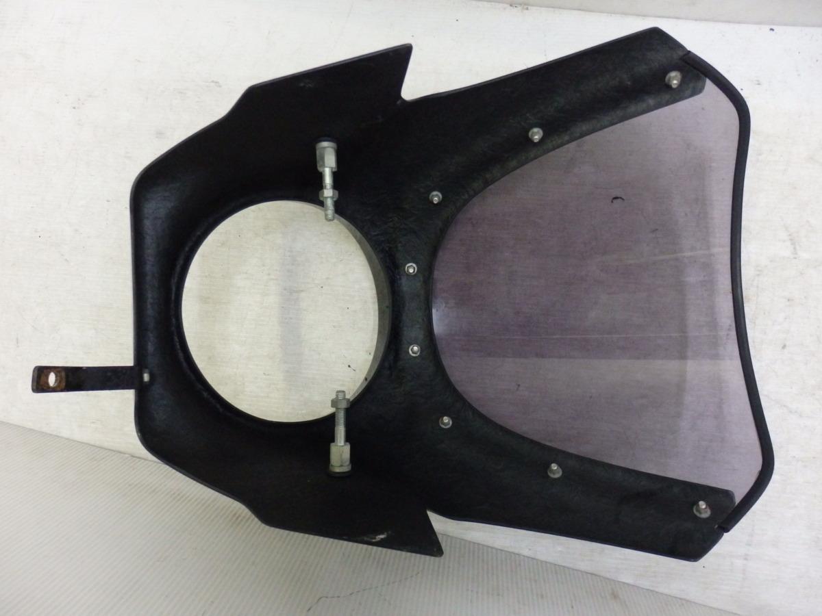 X4 X4LD SC38 シックデザイン ロードコメット ビキニカウル フロント スクリーン ブラック 迅速出荷 即決落札で送料無料【U344】_画像9