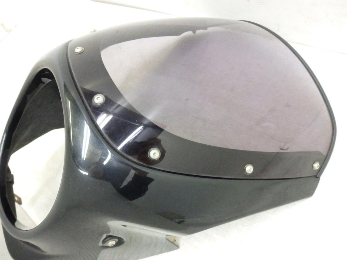 X4 X4LD SC38 シックデザイン ロードコメット ビキニカウル フロント スクリーン ブラック 迅速出荷 即決落札で送料無料【U344】_画像3