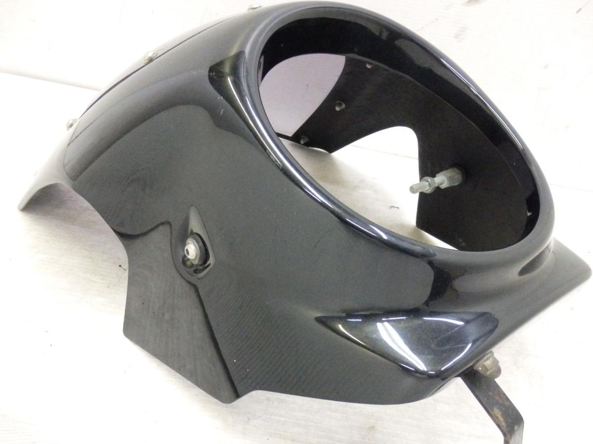 X4 X4LD SC38 シックデザイン ロードコメット ビキニカウル フロント スクリーン ブラック 迅速出荷 即決落札で送料無料【U344】_画像8
