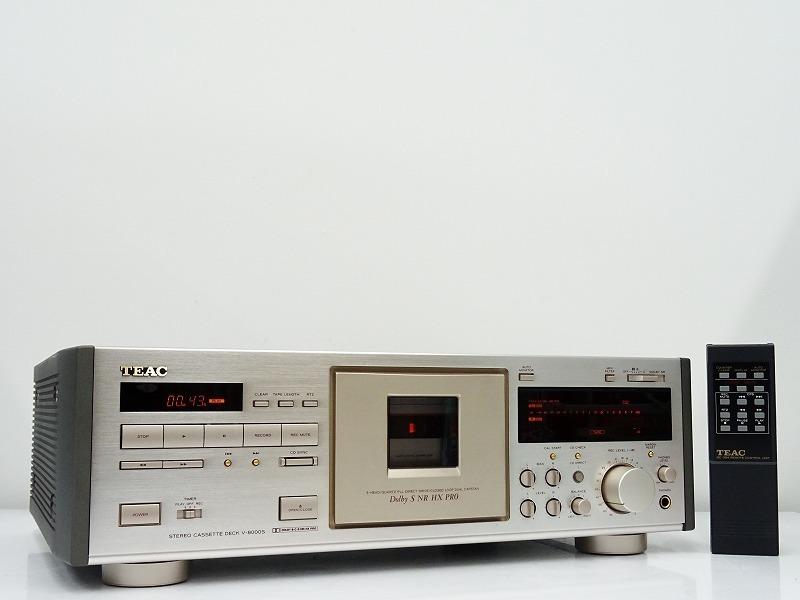 ■□TEAC V-8000S カセットデッキ ティアック 元箱付□■007466005Jm□■